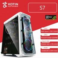 144029.64 руб. |KOTIN S7 игр настольных ПК компьютер Ryzen 7 2700 GeForece RTX2070 Intel 256 GB SSD WD 1 ТБ HDD 16 GB Оперативная память Corsair 650 W жидкостного-in Настольные ПК from Компьютер и офис on Aliexpress.com | Alibaba Group