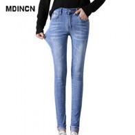 MDINCN/джинсы с высокой талией, взятые в 2020 году, на весну и осень, плотные, тонкие, эластичные, с краем ноги, объемные штаны