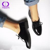 1577.76 руб. 50% СКИДКА|Туфли оксфорды на плоской подошве в британском стиле; женские весенние оксфорды из мягкой кожи; повседневная обувь на плоской подошве; женская обувь на шнуровке; броги в стиле ретро купить на AliExpress