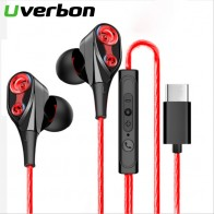 US $2.22 10% OFF|HiFi USB C Earbuds In ear Dynamic Drive Type C Earphone Bass Metal Sport Gaming Headset with Mic for Samsung Xiaomi Huawei Letv-in Phone Earphones & Headphones from Consumer Electronics on AliExpress