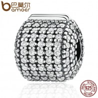 US $11.34 30% OFF|Authentic 925 Sterling Silver Stopper Pave Barrel, Clear CZ Clip Charms fit  Bracelet Women DIY Fashion Jewelry PSC012-in Charms from Jewelry & Accessories on Aliexpress.com | Alibaba Group