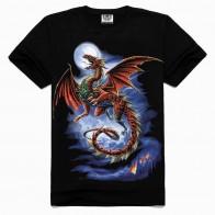 479.97 руб. 50% СКИДКА|2018 популярная летняя футболка с изображением дракона, Новая Стильная хлопковая Мужская футболка, черная футболка, футболка с короткими рукавами в стиле хип хоп, s XXXL-in Футболки from Мужская одежда on Aliexpress.com | Alibaba Group