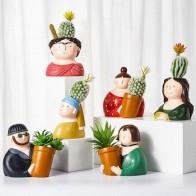 Мультяшный горшок для суккулентов, горшок для растений С КАКТУСОМ, цветочный горшок, контейнер для растений, выбранный стиль - Ваш красивый дом