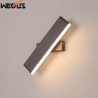 671.8 руб. 55% СКИДКА|Современный минималистский творческий спальня ночники, личность алюминий может вращаться гостиная настенные светильники-in Светодиодные комнатные настенные лампы from Лампы и освещение on Aliexpress.com | Alibaba Group