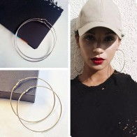 US $0.88 30% OFF|4 Size Women Gold Silver Color Metal Big Circle Smooth Large Big Round Hoop Earings For Women Sexy Fashion Jewelry-in Hoop Earrings from Jewelry & Accessories on Aliexpress.com | Alibaba Group