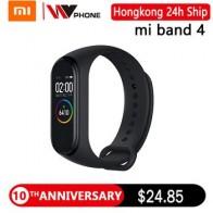 Оригинальный Смарт-браслет XiaoMi Mi Band 4 фитнес-браслет Mi Band 4 пульсометр большой сенсорный экран сообщение Smartband