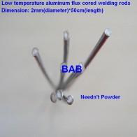 563.67 руб. 12% СКИДКА|20 шт. 2 мм * 50 см низкотемпературная алюминиевая флюсовая проволока сварочная с сердечником не нужна алюминиевая пудра вместо WE53 медного и алюминиевого стержня-in Провода для сварки from Орудия on Aliexpress.com | Alibaba Group
