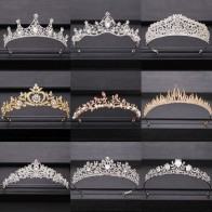2020 Топ свадебная корона для невесты головной убор Золото Серебро барокко кристалл диадемы и короны невесты диадема свадебные аксессуары дл...
