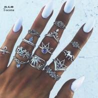 € 0.91 49% de DESCUENTO|Tocona 13 unids/set Bohemia antiguo de plata corona unicornio tallado anillos conjuntos de nudillo anillos para la joyería de las mujeres 4841 en Anillos de Joyería y accesorios en AliExpress.com | Alibaba Group
