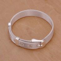 105.64 руб. 5% СКИДКА|Браслет посеребренные серебряный браслет Мода jewelry браслет с сетчатым ремешком ювелирные изделия оптом Бесплатная доставка awra lh237 купить на AliExpress