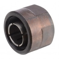 "1pc 1/2"" Collet Nut Plunge Router Parts Black Metal 22.5x27mm with High Hardness For Makita 3612"