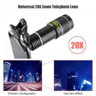 Universal 20X Zoom Telephoto Lens External Mobile Phone Camera Lens with Clip for iPhone Universal Lens DSLR Mobile Phone Lens on AliExpress