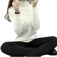 718.25 руб. 49% СКИДКА|Осень 2019 женские свитера пуловеры вязаный свитер с высоким воротом пончо женские топы Pull Femme Белый Бежевый Зеленый Черный Серый Коричневый-in Пуловеры from Женская одежда on Aliexpress.com | Alibaba Group