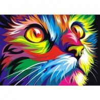 """Раскраска по номерам """"Радужный кот"""", 40 х 50 см бренда Артвентура - Все, что тебе сейчас нужно"""