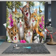 933.78 руб. 49% СКИДКА|3D Маленькая кошка семья и Сика олень бабочка занавеска для душа s ванная комната занавес утепленная Водонепроницаемая утолщенная Ванна занавес-in Шторы для душа from Дом и сад on Aliexpress.com | Alibaba Group