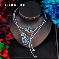 Hibride новый уникальный дизайн ослепительно колье Цепочки и ожерелья для Для женщин кулон аксессуары модные вечерние украшения N 676 купить на AliExpress
