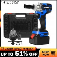 US $68.59 51% OFF|TENWA Impact Wrench Electric Wrench Brushless Socket Wrench 21V 4000mAh Li Battery Hand Drill Installation Power Tools-in Electric Wrenches from Tools on Aliexpress.com | Alibaba Group