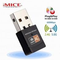 320.83 руб. 30% СКИДКА|Беспроводной USB WiFi адаптер 600 Мбит/с ключ Wi Fi PC сетевая карта двухдиапазонный wifi 5 ГГц адаптер ЛВС USB Ethernet приемник AC Wi Fi-in Сетевые карты from Компьютер и офис on Aliexpress.com | Alibaba Group