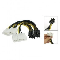 Новый стиль 2 шт ATX двойной 4-контактный штыревой разъем для 8-контактный женский кабель адаптера питания