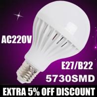 6.82 руб. 10% СКИДКА|Оптовая продажа E27 светодио дный лампы 220 В 3 Вт 5 Вт 7 Вт 9 Вт 12 Вт светодио дный лампы светодио дный лампочки Леве bulbo Bombillas luz лампада светодио дный Bombillas купить на AliExpress