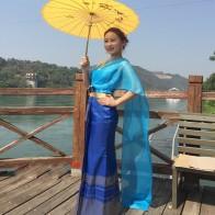 6687.49 руб. 6% СКИДКА|Тайская женская одежда Dai Songkran синий комбинезон тонкий задний ropa la thailande des vetements la induandia indumenti-in Одежда Азии и островов Тихого Океана from Новый и особенный в использовании on Aliexpress.com | Alibaba Group