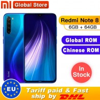 "US $179.99 20% OFF|Global ROM Original Xiaomi Redmi Note 8 6GB 64GB Snapdragon 665 Octa Core Smartphone 6.3"" 48MP Quad Rear Camera 4000mAh 18W-in Cellphones from Cellphones & Telecommunications on AliExpress - 11.11_Double 11_Singles"