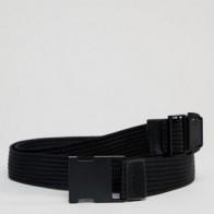 Черный узкий тканый ремень с матовой застежкой-зажимом ASOS DESIGN