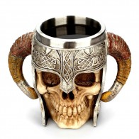 US $12.96 41% OFF|Coffee Mug Resin Striking Warrior Tankard Viking Skull Double Wall Christmas cup Creative Thermos 2019 New products selling well-in Mugs from Home & Garden on Aliexpress.com | Alibaba Group