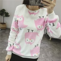 US $12.35 |Spring Winter Printed Sweater Womens Top Lovely Lesser Bears Print Sweater Autumn 2018 Casual Slim Fashion Pullover Women Jumper-in Pullovers from Women