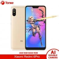 Оригинальный Xiaomi телефон Redmi 6 Pro 64 ГБ Встроенная память 4 Оперативная Snapdragon 625 Octa Core 5,84