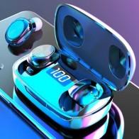 TWS Bluetooth 5,0 наушники 500 мАч зарядная коробка беспроводные наушники 9D стерео спортивные водонепроницаемые наушники гарнитуры с микрофоном
