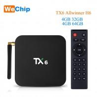 1752.47 руб. 32% СКИДКА|Wechip TX6 Smart Android 9,0 ТВ коробка 4G 32G Allwinner H6 Quad core 2,4G + 5G Dual Wifi BT 4,1 Декодер каналов кабельного телевидения 4 K HD H.265 Media Player-in ТВ-приставки from Бытовая электроника on Aliexpress.com | Alibaba Group