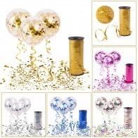 55.17руб. 15% СКИДКА|FENGRISE воздушные шары с конфетти цвета розовое золото латексный воздушный шар