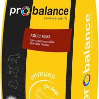 """Корм сухой ProBalance """"Immuno Adult Maxi"""" для взрослых собак крупных пород, 15 кг — купить в интернет-магазине OZON с быстрой доставкой"""