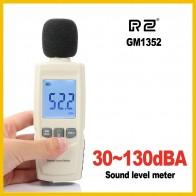 RZ мини шумомеры децибеллометр logger Шум аудио детектор цифровой диагностический инструмент автомобильный микрофон GM1352 купить на AliExpress