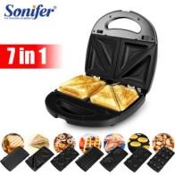 Электрическая машина для приготовления вафель Sonifer, 7 в 1 - Вафельница-гриль