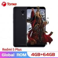 11123.58 руб. |Оригинальный Xiaomi Redmi 5 Plus 4 ГБ ОЗУ 64 Гб ПЗУ 4000 мАч мобильный телефон Snapdragon 625 Восьмиядерный 5,99