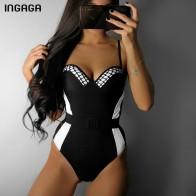 674.0 руб. 44% СКИДКА|INGAGA сплошной цельный купальник пуш ап купальники женские с высокой посадкой купальники для плавания Новинка 2019 сексуальный ремешок пляжная одежда on Aliexpress.com | Alibaba Group