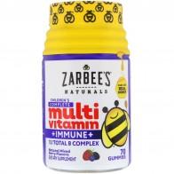 Zarbee's, Полноценный комплекс мультивитаминов для детей + защита иммунитета, смесь натуральных ягод, 70 жевательных таблеток - Vitaminas para la inmunidad