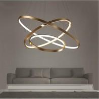 Модная столовая современная люстра, круглый светодиодный светильник-Люстра для внутреннего освещения 85-260 в перем. Тока 40 см 60 см 80 см 100 см - Люстры в дом