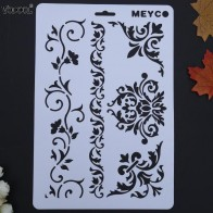 US $0.57 34% OFF|VODOOL Cane Vine Hollow DIY Drawing Stencils Templates Painting Scrapbooking Paper Cards Album Stencils Ruler School Supplies on Aliexpress.com | Alibaba Group