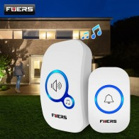 Fuers Wireless Doorbell Welcome bell Home Chime Door bell Alarm 32 Songs Smart Doorbell EU Plug doorbell ring Waterproof Button
