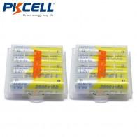 1052.25 руб. 25% СКИДКА|8 шт. батарейки PKCELL NIMH AA 2600 мАч В 1,2 в 2A Ni MH аккумуляторы AA батареи батарея + 2 шт. батарея держать Чехол коробки купить на AliExpress