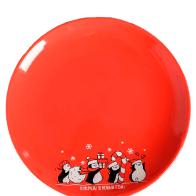 Купить Дорого внимание Тарелка Вперёд! В Новый год 20 см красный/черный/белый по низкой цене с доставкой из Яндекс.Маркета - Посуда для праздника