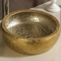 Купить Умывальник фигурный золото MELANA 800-J2023 в Ульяновске - Раковины на столешницу