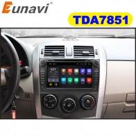 11249.25 руб. 20% СКИДКА|Eunavi 2 din Android 9,1 TDA7851 автомобильный dvd для Защитные чехлы для сидений, сшитые специально для Toyota Corolla 2007 2008 2009 2010 2011 8