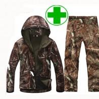 Камуфляж Одежда для охоты Акула кожи мягкой в виде ракушки скрытень Tad V 4,0 Открытый Тактический военная Униформа флисовая куртка + форменн купить на AliExpress