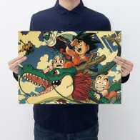 US $1.12 24% OFF Dragon ball z  Action Figure Poster Anime goku Vintage Retro Kraft Print Sticker Bar Posters Decor Dragon Ball Toy For Kids Boys-in Action & Toy Figures from Toys & Hobbies on Aliexpress.com   Alibaba Group