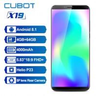 9807.93 руб. 20% СКИДКА|CUBOT X19 4G Phablet 5,93 дюймовый Android 8,1 MT6763T (Helio P23) Восьмиядерный 2,5 ГГц 64 бит 4 GB Оперативная память 64 Гб Встроенная память 16.0MP + 2.0MP сзади-in Мобильные телефоны from Мобильные телефоны и телекоммуникации on Aliexpress.com | Alibaba Group
