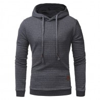 US $20.59 |Autumn Men Hoodie Sweatshirt Plaid Hooded Sweatshirt Pullovers Casual Long Sleeve Hoodie High Quality Brand Men